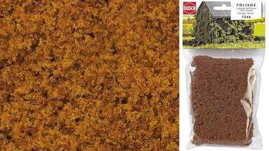 BUSCH 7346 — Листва двухцветная светло-коричневая (фолиаж ~150×250 мм), 1:35—1:250