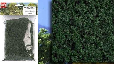 BUSCH 7318 — Листва средне-зеленая (синтетический мох), 1:35—1:250