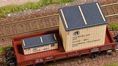 BUSCH 1684 — Деревянные ящики «VEB Blema» для грузовых вагонов, 1:87, ГДР