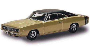 BUSCH 201129443 — Автомобиль Dodge® Charger™ золотисто-чёрный, 1:87, 1968