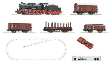 ROCO 51318 — Цифровой стартовый набор «Грузовой состав с паровозом BR 57», H0, III–IV, DB