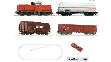 ROCO 51322 — Цифровой стартовый набор z21 «Грузовой поезд с тепловозом 2048», H0, V, ÖBB