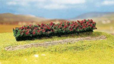 FALLER 181352 — Живая изгородь (красная цветущая, ~160×25×20мм), 1:72—1:200