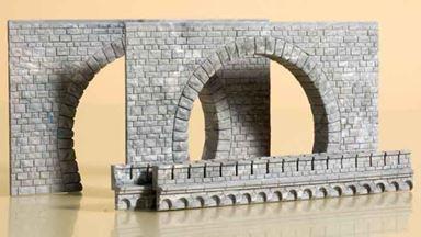 AUHAGEN 41587 — Туннельный двухпутный портал (2 шт.), 1:87