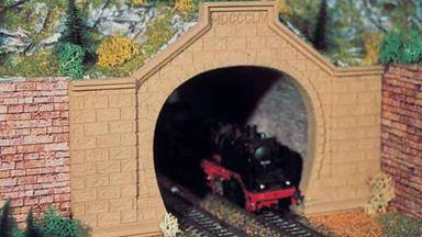 VOLLMER 42505 — Порталы тоннеля двухпутные (2 арки), 1:87