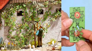 NOCH 14132 — Дикий виноград (12 растений), 1:72—1:100, Laser-Cut