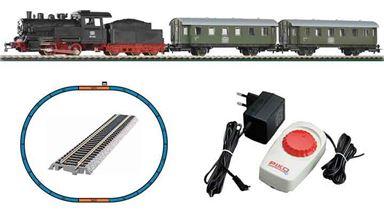 PIKO 57112 — Аналоговый стартовый набор «Пассажирский поезд с паровозом», H0, DB