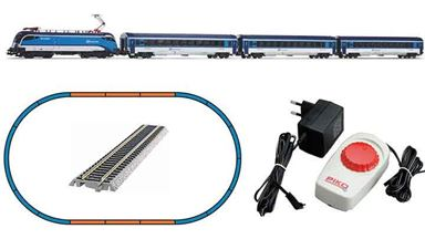 PIKO 57179 — Аналоговый стартовый набор «Пассажирский поезд Taurus «Railjet», H0, VI, CD
