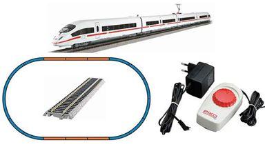 PIKO 57196 — Аналоговый стартовый набор «Пассажирский экспресс ICE 3», H0, V, DB AG