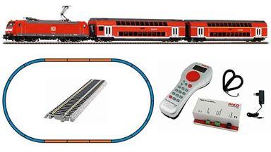 PIKO 59023 — Цифровой стартовый набор «Пассажирский поезд с электровозом BR 146», H0, VI, DB AG