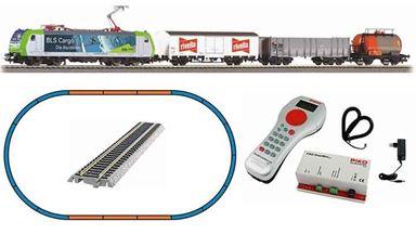 PIKO 59028 — Цифровой стартовый набор «Грузовой поезд с электровозом Re 485», H0, VI, BLS
