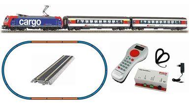PIKO 59029 — Цифровой стартовый набор «Поезд с электровозом Re 484», H0, VI, SBB