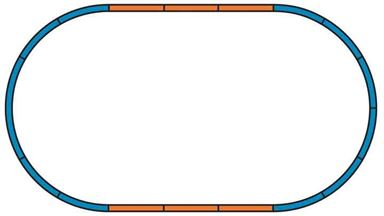 PIKO 55365 — Подложки для рельсовых путей (набор А и 4 прямых рельса), H0