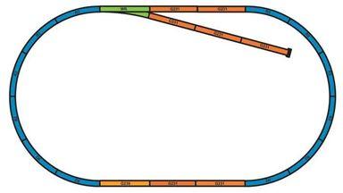 PIKO 55366 — Подложки для рельсовых путей (набор А и B), H0