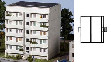 PIKO 61146 — Блочный 5 этажный дом, 1:87