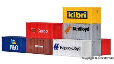 KIBRI 10924 — Морские контейнеры 20 футов (8 шт.), 1:87, DB