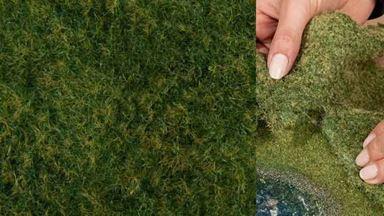 NOCH 07280 — Трава дикая светло-зелёная (фолиаж ~200×230мм≈0,046м²), 1:10—1:250