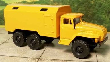 RUSAM-URAL-4320-31-400 — Автомобиль УРАЛ 4320 кунг тип 2 «АВАРИЙНАЯ», 1:87, 1977, СССР
