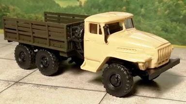 RUSAM-URAL-4320-20-410 — Грузовой автомобиль УРАЛ 4320 высокий борт, 1:87, 1977, СССР