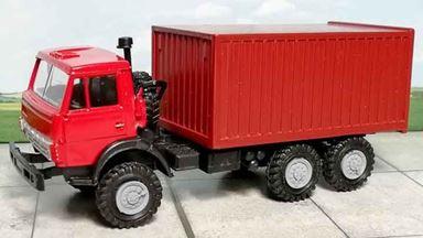 RUSAM-KAMAZ-4310-05-230 — Автомобиль КамАЗ 4310 контейнеровоз (зеркала), 1:87, 1979, СССР