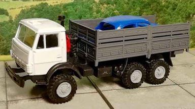 RUSAM-KAMAZ-4310-23-050 — Автомобиль КамАЗ с кузовом автомобиля, 1:87, 1979, СССР