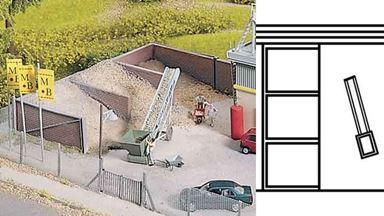 PIKO 61132 — Хранилище сыпучих материалов на фабрике «MAIN-BETON», 1:87