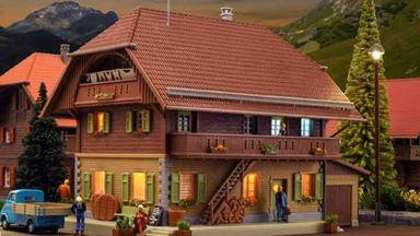 KIBRI 38024 — Здание сырного заводика «Thal» в Хаймисбахе (свет внутренний), 1:87