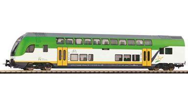 PIKO 58807 — Двухэтажный пассажирский вагон  управления 1 и 2 кл., H0, VI, Koleje