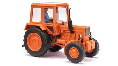 BUSCH 51314 — Трактор Беларусь МТЗ-82 (красный) с фермером, 1:87, 1974, СССР