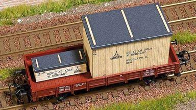 BUSCH 1685 — Деревянные ящики «Deutz AG Köln» для грузовых вагонов, 1:87