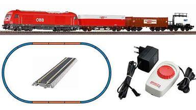 PIKO 97948 — Аналоговый стартовый набор «Грузовой поезд с тепловозом Herkules», H0, V, ÖBB