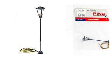 PIKO 55756 — Парковый фонарь ~88 мм (свет), 1:72—1:100