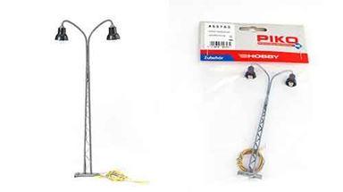 PIKO 55753 — Железнодорожный двойной фонарь ~140 мм (свет), 1:72—1:100