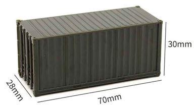 CMOD CON08720 brown — 20 футовый контейнер (коричневый), 1:87
