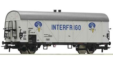 ROCO 76713 — Вагон рефрижератор «Fyffes Interfrigo», H0, III—IV, DB