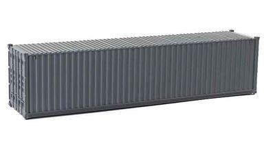 CMOD CON08740 dark gray — 40 футовый морской контейнер (темно-серый), 1:87