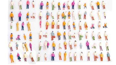 CMOD FIG100-01x100 — Стоящие и сидящие люди (100 фигурок ~19—20 мм), 1:87—1:100
