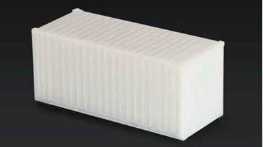CMOD CON08720 white — 20 футовый контейнер (белый), 1:87