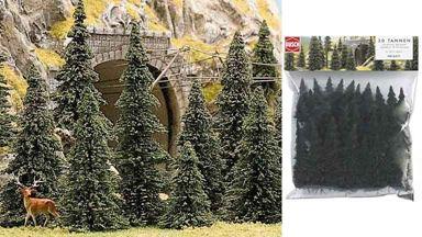 BUSCH 6471 — Пихты (30 деревьев) ~50—135мм, 1:72—1:220