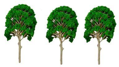 CMOD DLS050x3 — Лиственные деревья ~150мм (пластик, 3 шт.), 1:35—1:100