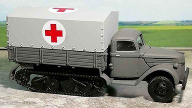 RUSAM-SDKFZ-3-15-910 — Автомобиль полугусеничный санитарный, 1:87, II, Wehrmacht