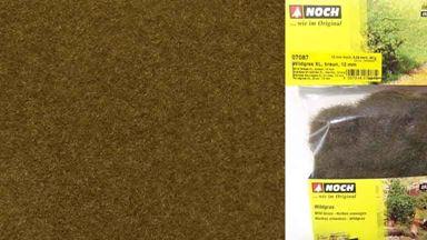 NOCH 07087 — Трава дикая коричневая (флок ~12мм, ~40 г), 1:35—1:100, Сделано в ЕС