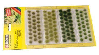 NOCH 07127 — Трава светло- и темно-зеленая (104 пучка ~6мм), 1:10—1:250, сделано в ЕС