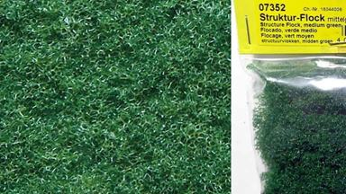 NOCH 07352 — Трава зелёная (флокаж ~8мм,  пена ~10 г), 1:10—1:250