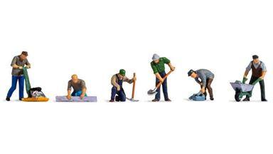 NOCH 15112 — Дорожные рабочие (6 фигурок), 1:87