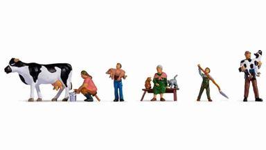 NOCH 15609 — «Семья фермера за работой» (набор фигурок), 1:87