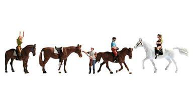 NOCH 15630 — Всадники и лошади (набор фигурок), 1:87