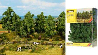 NOCH 24603 — Лиственные деревья (~40—100мм, 16 шт.), 1:72—1:250