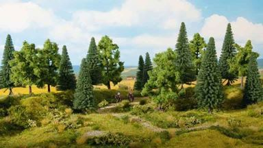 NOCH 24620 — Смешанный лес (8 деревьев ~100—140мм), 1:72—1:120
