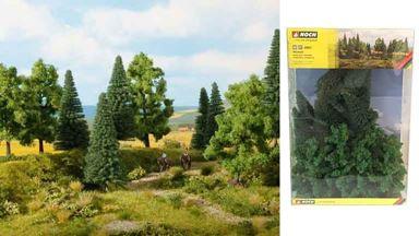NOCH 24621 — Смешанный лес (16 деревьев ~100—140мм), 1:72—1:120